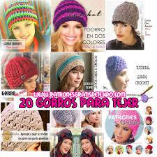 20 gorros para tejer en crochet y dos agujas patrones y tutoriales