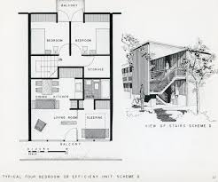 okc mod low cost housing for urban renewal architectural