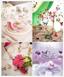 dã coration table mariage mariage papillon couleur fushia vert parme pour le mariage