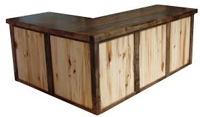 Reclaimed Wood Executive Desk Well Suited Rustic Office Furniture Desks Interesting Design