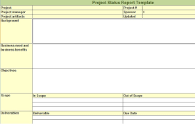 Project Management Status Report Template Excel Weekly Project Status Report Template In Excel Microsoft Excel