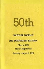 50th high school reunion souvenirs indiana books photos 50th souvenir booklet 50th anniversary