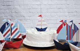 sailboat cake topper mini paper sailboat cake topper only 3 etsy 4th