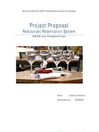 project proposal subscription business model restaurants