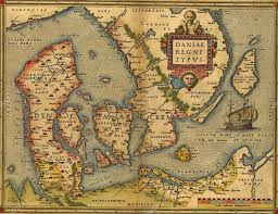 antique map of denmark u2014 stock photo cascoly 25290099