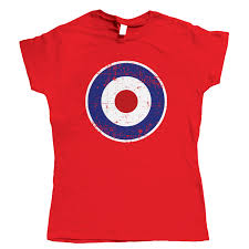 retro mod raf target womens scooter t shirt birthday gift for