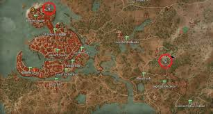 White Castle Locations Map Place Of Power Locations Witcher Hour
