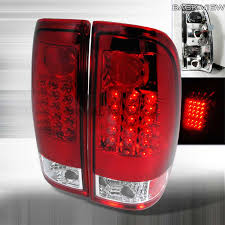 2004 f150 tail lights 1997 2003 ford f150 f250 euro led tail lights red clear lt
