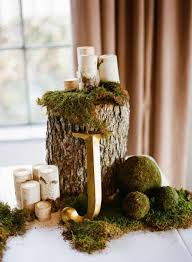 photo centerpieces 32 naturally charming woodland wedding centerpieces weddingomania