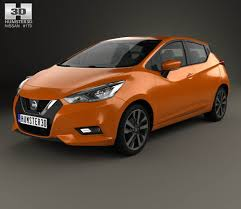 nissan orange nissan micra 2016 3d model from hum3d com nissan 3d models