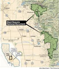 Sequoia National Park Map Trump Gains Local Support In Possible Shrinking Of California U0027s