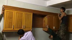 wall hung kitchen cabinets woodworking projects modern how to build installation complete kitchen cabinets wall mounted 2