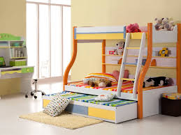 Kids Study Desk by Kids Beds Bright Children Bedroom With Bunk Bed For Three