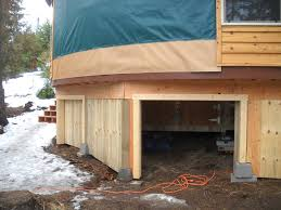 great use of yurt under deck space elevated storage compartments