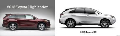 toyota suv deals comparing suvs 2015 toyota highlander vs 2015 lexus rx