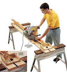 portable track saw table small shop tip portable miter saw station