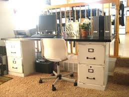 office cabinets with doors a desk made from an old door and two file cabinets love the idea i