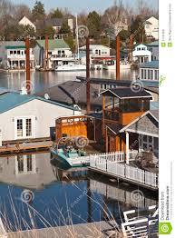 floating house and water courtyard royalty free stock photos