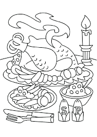 thanksgiving feast coloring pages thanksgiving dinner feast coloring