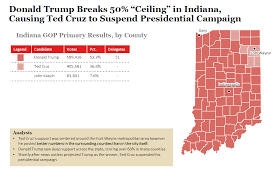 Primary Map 2016 Indiana Republican Primary Results And Voting Map