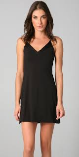 kleink che klein essentials v neck chemise calvin klein black