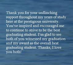 thank you message for parents on graduation day hubpages