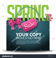 spring sale shopping bag background eps stock vector 264231152