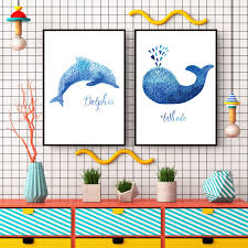 Home Decoration Painting by Online Get Cheap Cartoon Dolphins Pictures Aliexpress Com