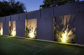 amazing outside garden wall lights outdoor feature wall google