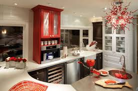 Red Cabinets In Kitchen by Transitional Cabinets Design Sollera Fine Cabinetry