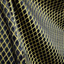 Drapery And Upholstery Fabric Black Gold Diamond Chenille Cut Velvet Upholstery Fabric Andover