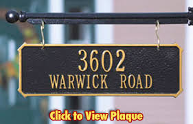 address plaques made in usa custom house number signs