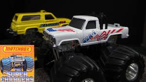 bigfoot monster truck logo matchbox super chargers monster trucks from late 1980 u0027s youtube