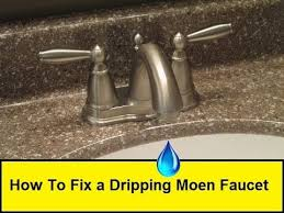 how to fix a dripping moen faucet howtolou com youtube