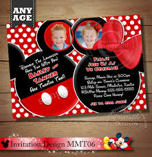 you choose mickey mouse invitation for twins mickey mouse