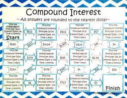 compound interest worksheet middle compound interest