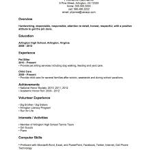 resume template for someone with no experience no experience resume template teenager jobdent sle for high