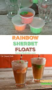 rainbow sherbet floats recipe fun of and party drinks
