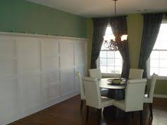 Maroon Red Walls With White Wainscoting Kitchen Dining Room - Wainscoting dining room ideas