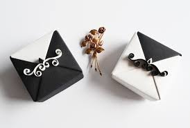 Wedding Gift Box Black And White Origami Wedding Gift Boxes By Reversecascade On