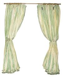 set of six green and cream curtain panels by denning u0026 fourcade