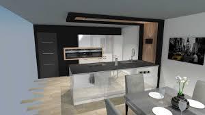 cuisines blanches et bois charmant cuisine blanche laquee et cuisine moderne blanche bois et