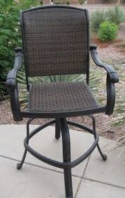 outdoor wicker swivel bar stools foter