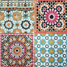 Tile Wallpaper Deco4walls Moroccan Tile Wallpaper Marrakesh Tile Design And