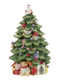 Spode Christmas Tree Santa Cookie Jar by Atlantic Ceramic Christmas Tree Christmas Lights Decoration
