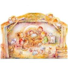 hallmark boxed cards baby jesus nativity
