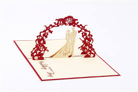 Wishes For Wedding Cards 3d Wedding Invitation Greeting Pop Up Card Postcards Wishes Gifts