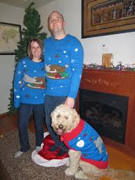 thanksgiving dog sweater matching dog owner christmas sweaters take ugly to a new level