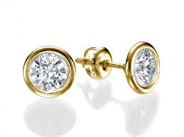 gold diamond stud earrings gold diamond stud earrings beautiful out fit with the diamond