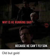 Running Dad Meme - why is he running dad co comids because he can t fly son old but